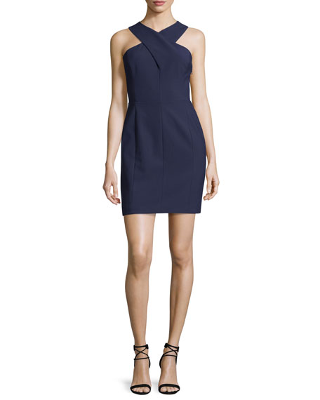 Elizabeth & James Elliot Sleeveless Cutout Stretch Crepe