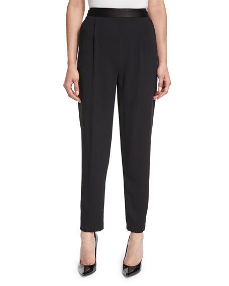 Alice + Olivia Jessie Single-Pleat Trousers, Black
