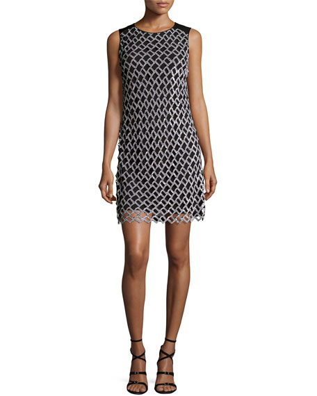 Diane von Furstenberg Joylyn Embellished Cocktail Dress,