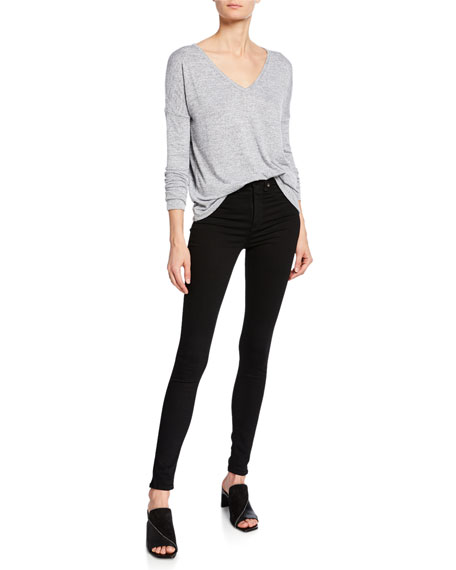 Rag & Bone 10 Inch Skinny Jeans, Black