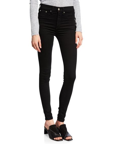 rag & bone/JEAN 10 Inch Skinny Jeans, Black
