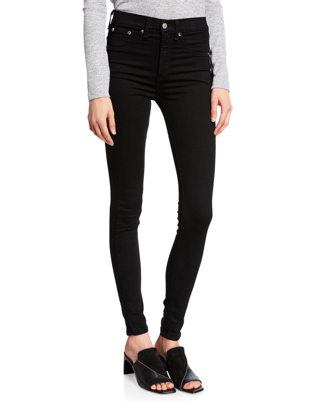 Quick Look. rag & bone/JEAN · 10 Inch Skinny Jeans, Black