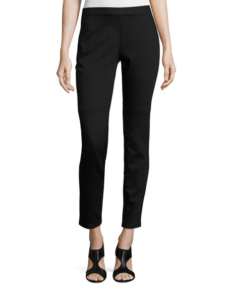 Eileen Fisher Lightweight Denim Leggings, Black