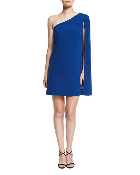 Jill Jill Stuart One-Shoulder Crepe Cocktail Dress, Sapphire