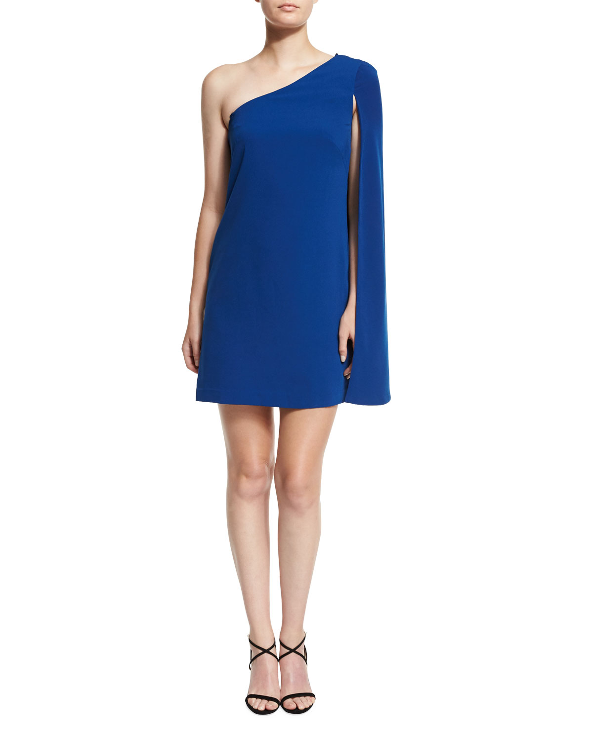 One Shoulder Crepe Tail Dress Shire