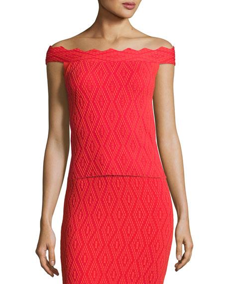 Jonathan Simkhai Diamond-Textured Top & Skirt