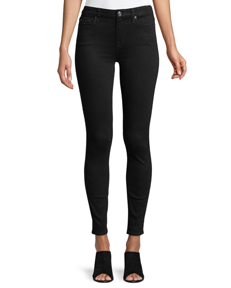 7 For All Mankind The Ankle Skinny Jeans, B[Air] Black