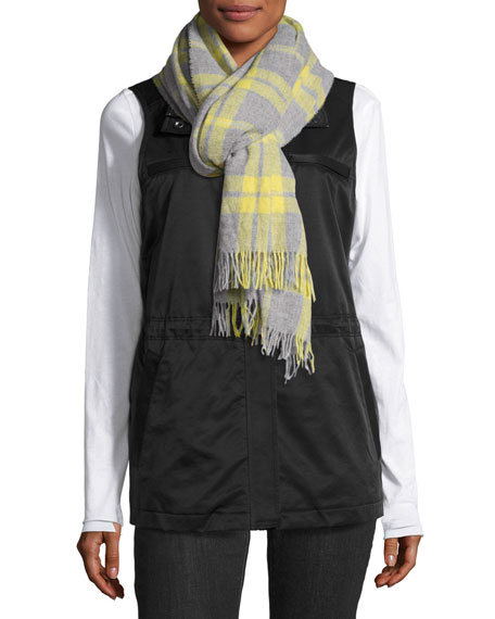 Fleece-Lined Nylon Vest, Black Reviews