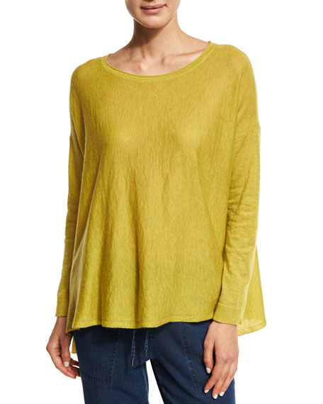 Eileen Fisher Silk Ombre Scarf, Scoop-Neck Easy Top