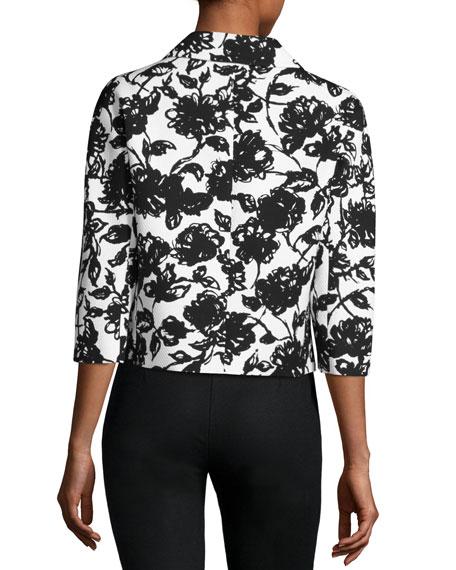 Brushstroke Matelasse Jacket