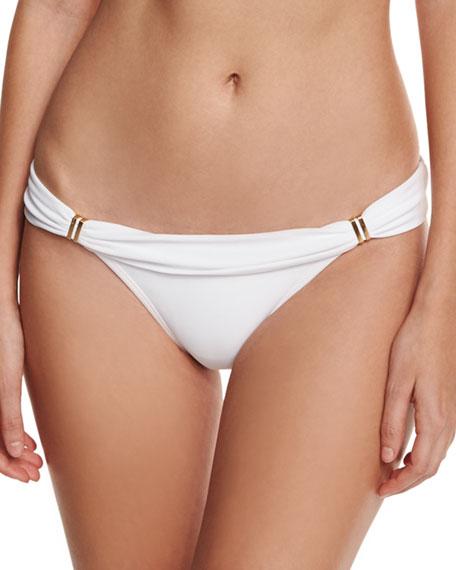 Bia Solid Swim Bikini Bottom, White