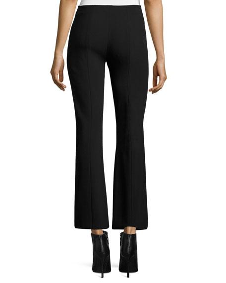 Beca Cropped Boot-Cut Pants, Black