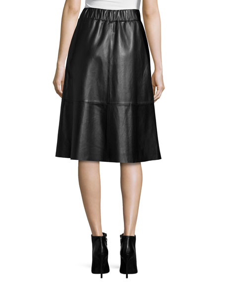 bagatelle midi leather skirt