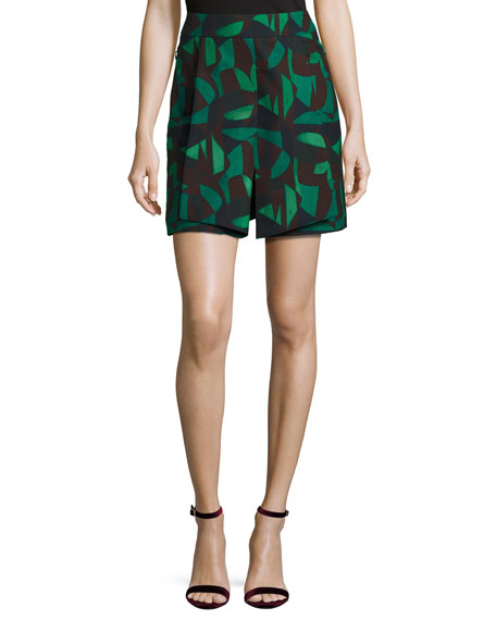 Akris Garden-Print Jacket & Skirt
