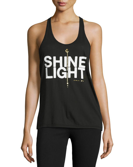 Shine Light Arrow Racerback Tank Top