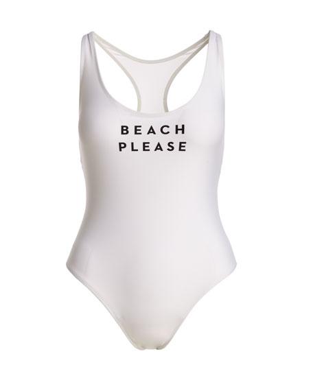 Beach Please One-Piece Swimsuit