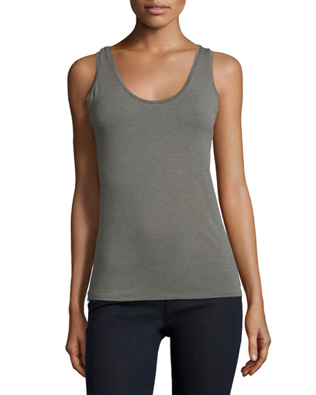 Majestic Paris for Neiman Marcus Sleeveless Scoop-Neck Tank