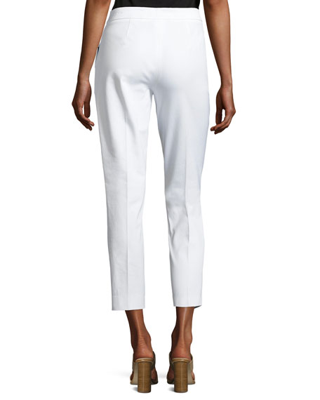 Misook Collection Plus Size Stretch-Cotton Cropped Pants