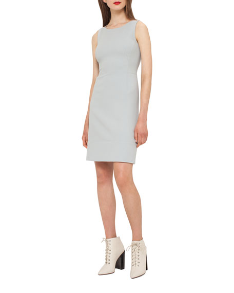 Wool Crepe Double-Hem Dress