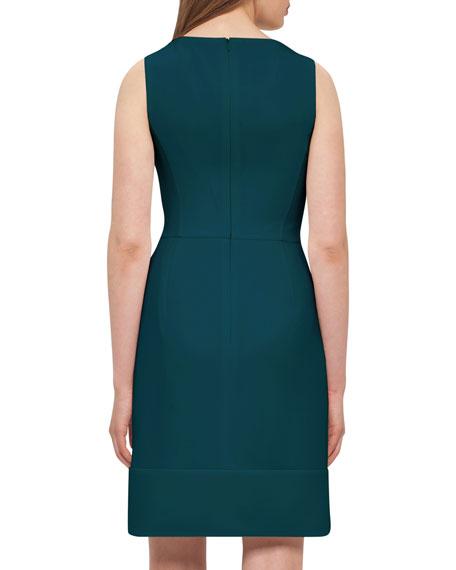Wool Crepe Double-Hem Dress