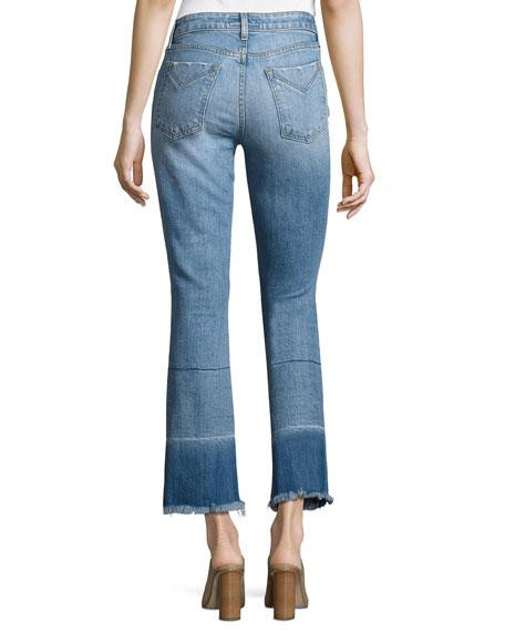 Derek Lam 10 Crosby Jane Mid-Rise Flare-Leg Jeans, Indigo