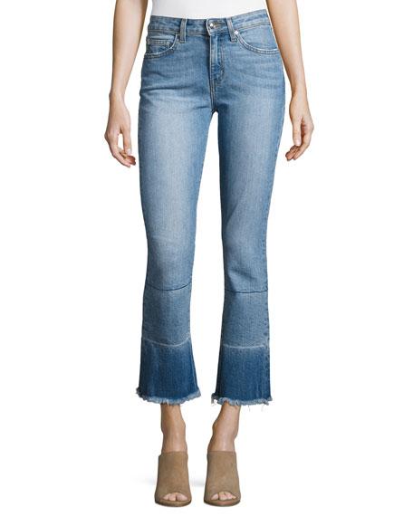 Derek Lam 10 Crosby Jane Mid-Rise Flare-Leg Jeans,