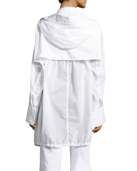 Kempton Hooded Drawstring Jacket, White