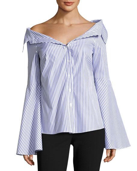 Persephone Striped Décolleté Shirt