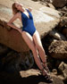 Ajourage Couture Halter One-Piece Swimsuit