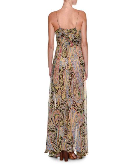 Fleur d'Oranger Sleeveless Printed Gown
