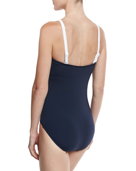 Block Party Maillot, Navy, Available in Extended DD Cup