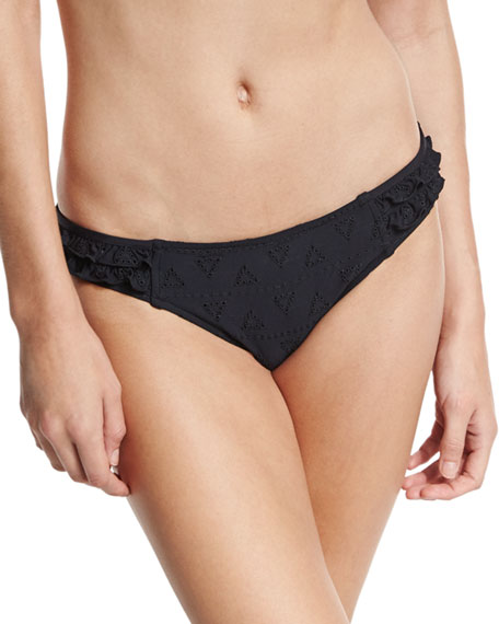 Lola Rae Hipster Swim Bottom, Black