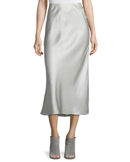 Calvin Klein Collection Kristina Silk Slim Midi Skirt