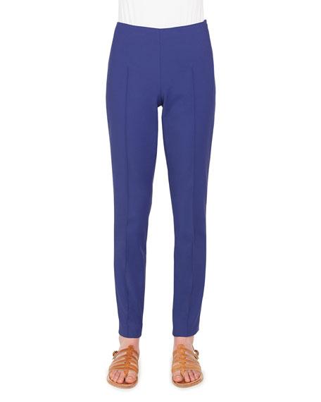 Akris Melissa Straight-Leg Stretch-Cotton Pants