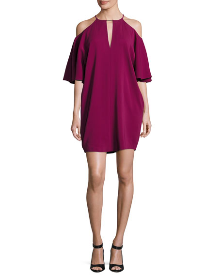 Rachel Zoe Andrea Cady Cold-Shoulder Dress, Purple