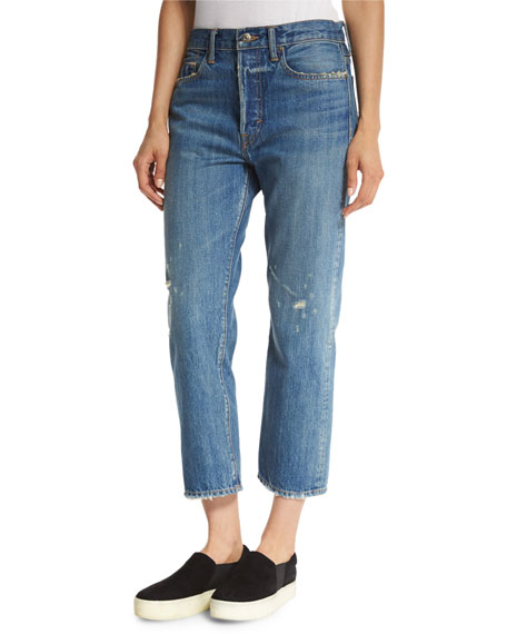 Vince Half-Placket Tunic & Slouch Jeans