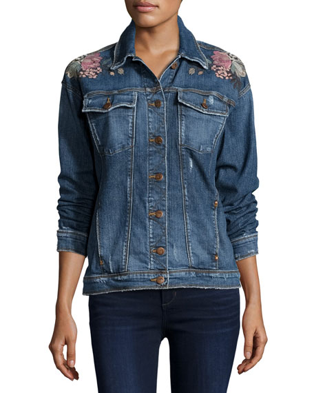 The Bella Embroidered Denim Jacket, Kaya