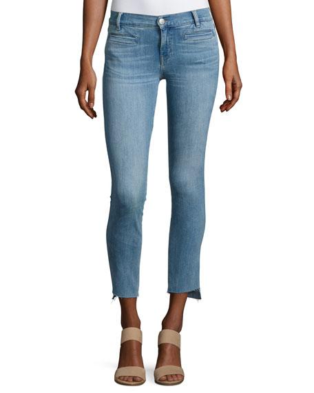 MiH Paris Stagger-Hem Skinny Jeans, Medium Blue