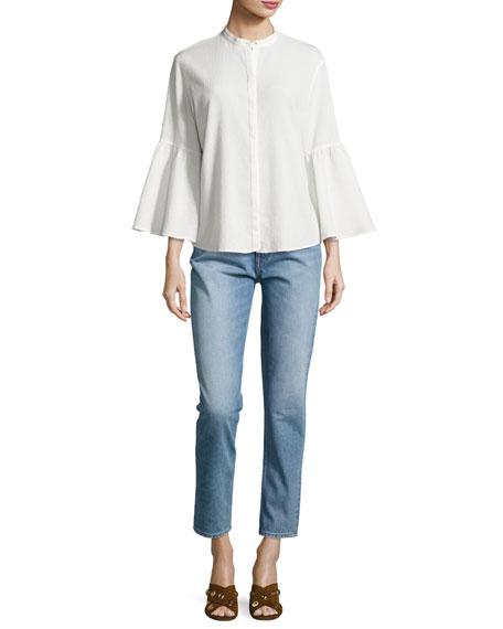 Mimi Vintage Slim-Straight Jeans, Blue