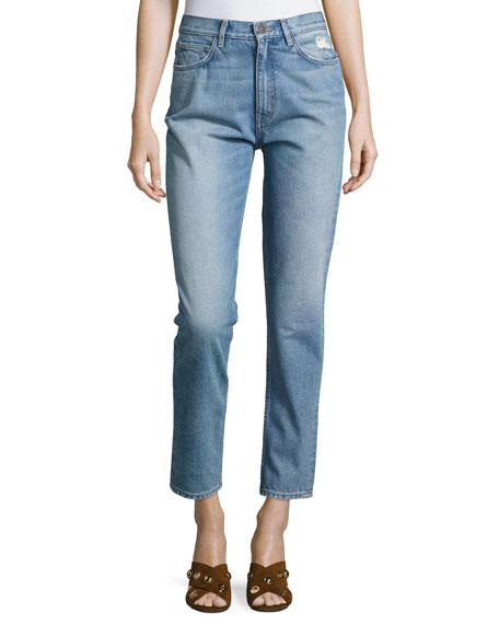 MiH Mimi Vintage Slim-Straight Jeans, Blue