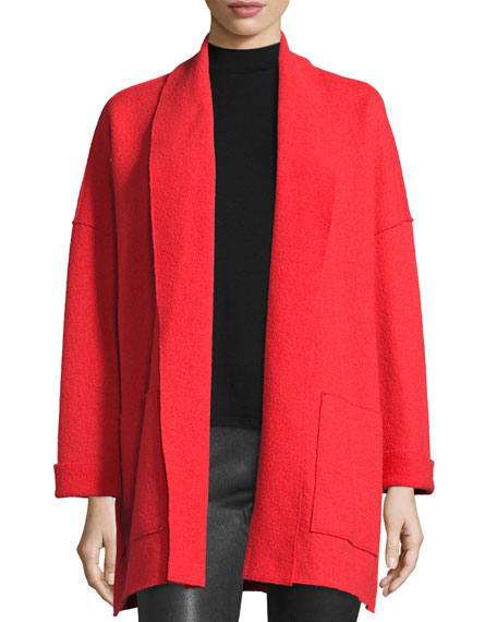 Eileen Fisher Boiled Wool Kimono Jacket, Poppy