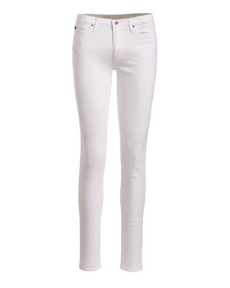 AG Prima Mid-Rise Cigarette Jeans, White