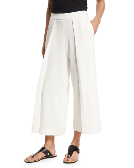 Rag & Bone Rowe Wide-Leg Culotte Trousers, White