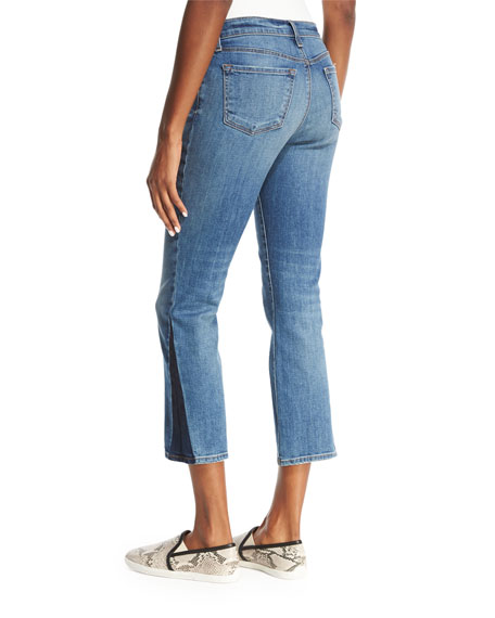 Selena Cropped Boot-Cut Jeans, Ascension