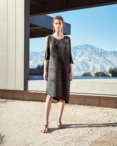 Trella Cold-Shoulder Rope-Trim Knit Dress, Plus Size