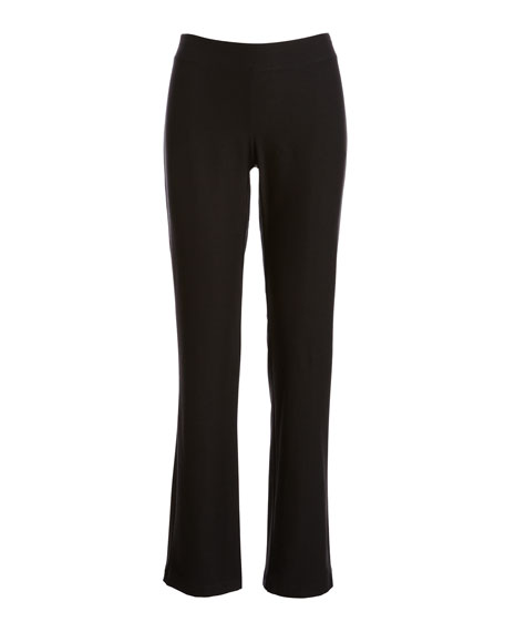 Washable Stretch-Crepe Boot-Cut Pants, Petite