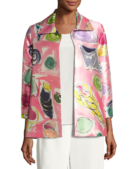 Caroline Rose Beachy Keen Printed Lady Jacket, Petite
