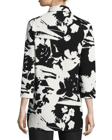Floral-Print Pique Tunic