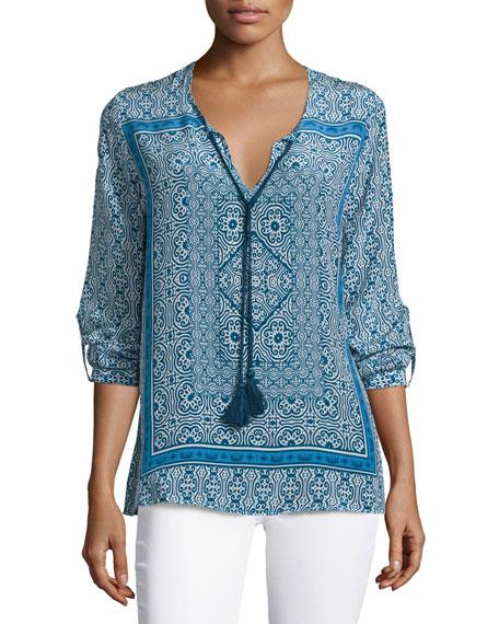 Virginia Long-Sleeve Printed Tunic
