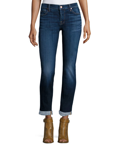 Josefina Slim-Leg Cropped Boyfriend Jeans